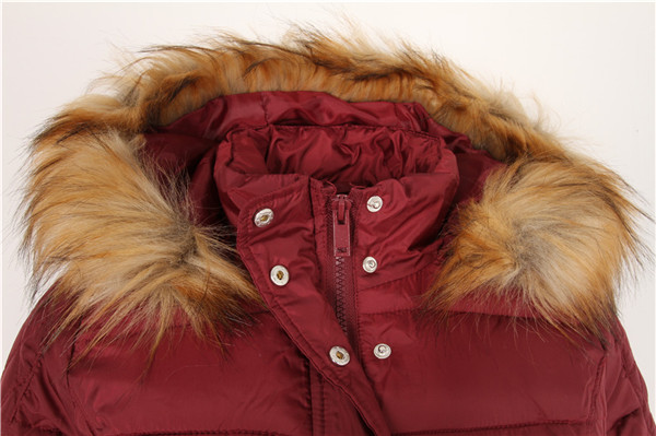 Wool Fur Hood Coat