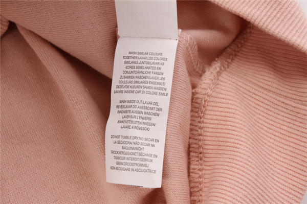 Pullover Washing Label