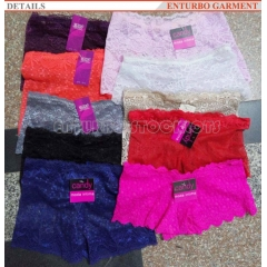Ladies lace panty stocklot supplier