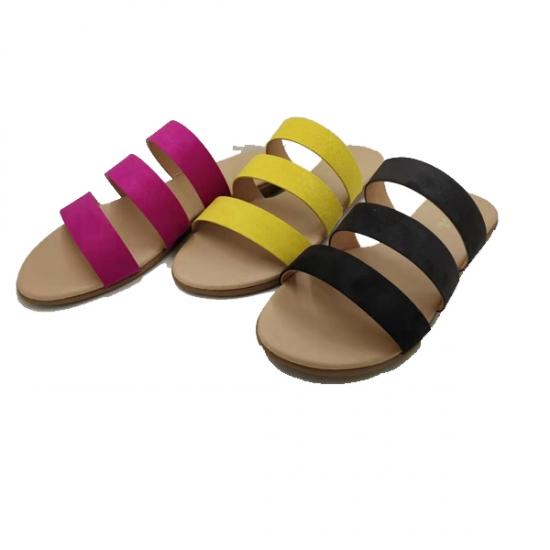 Estoque Senhoras Sandálias De Verão Listra Design.senhoras